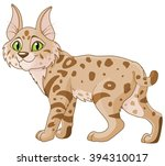 illustration of cute bobcat  | Shutterstock .eps vector #394310017