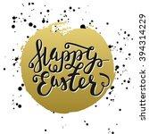 happy easter typographic...   Shutterstock . vector #394314229