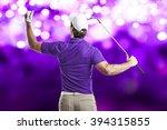 golf player in a purple shirt...   Shutterstock . vector #394315855