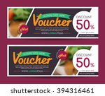 discount voucher template with...   Shutterstock .eps vector #394316461