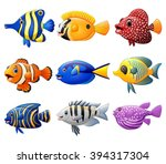 fish cartoon set | Shutterstock .eps vector #394317304