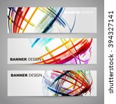 set of colorful flyer  brochure ... | Shutterstock .eps vector #394327141