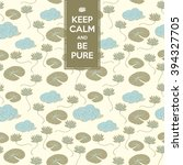 seamless pattern with lotus ... | Shutterstock .eps vector #394327705