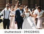 Newlywed Couple  Bridesmaids  ...