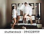 sexy bride   bridesmaids... | Shutterstock . vector #394328959