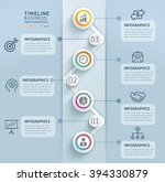 business timeline info graphic... | Shutterstock .eps vector #394330879