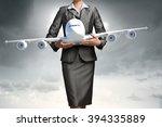 aircraft or business travel... | Shutterstock . vector #394335889