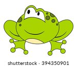 cartoon sitting frog. isolated... | Shutterstock .eps vector #394350901