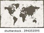 vector grunge world map.old... | Shutterstock .eps vector #394353595