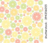 colorful fruits seamless... | Shutterstock .eps vector #394356055