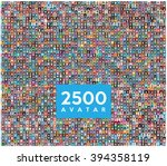 set of 2500 color diferent... | Shutterstock .eps vector #394358119