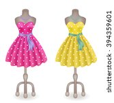 fashionable dress with polka... | Shutterstock . vector #394359601