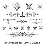 hand drawn boho patterns with... | Shutterstock .eps vector #394362265