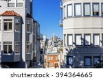 lombard street and russian hill ... | Shutterstock . vector #394364665