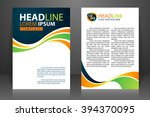 abstract vector modern flyers... | Shutterstock .eps vector #394370095