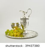 Silver Ware   A Jug And Glasse...