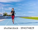 female asian athlete runner... | Shutterstock . vector #394374829
