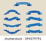 set of ribbons.ribbon banner... | Shutterstock .eps vector #394379791