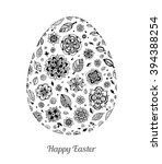 easter egg with floral pattern. ... | Shutterstock .eps vector #394388254