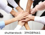 top view of young people... | Shutterstock . vector #394389661