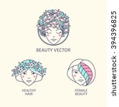 vector women beautiful person... | Shutterstock .eps vector #394396825