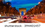arc de triomphe paris city at... | Shutterstock . vector #394401457