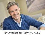 portrait of smiling handsome...   Shutterstock . vector #394407169