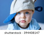 Portrait Of Blue Eyed Baby With ...