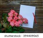 Dozen Pink Roses On Stems...