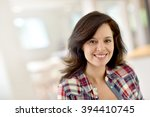 portrait of middle aged... | Shutterstock . vector #394410745