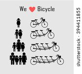 family icon with bicycle...   Shutterstock .eps vector #394411855
