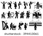 orchestra symphony musicians... | Shutterstock . vector #394413061