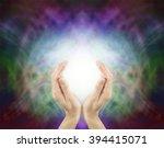 pranic healing energy   female... | Shutterstock . vector #394415071