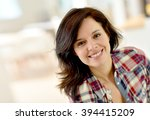 portrait of middle aged... | Shutterstock . vector #394415209