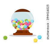 vector gumball machine... | Shutterstock .eps vector #394416025