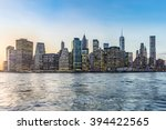 manhattan downtown urban view... | Shutterstock . vector #394422565