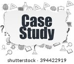 learning concept  case study on ... | Shutterstock . vector #394422919