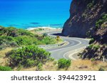 the scenic and winding great... | Shutterstock . vector #394423921