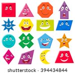 different shapes with facial... | Shutterstock .eps vector #394434844