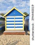 melbourne bathing boxes ... | Shutterstock . vector #394440019
