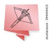 crossbow doodle | Shutterstock . vector #394443415