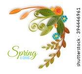 vector color flower branch in... | Shutterstock .eps vector #394446961