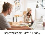 young team working at office ... | Shutterstock . vector #394447069