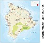 big island  hawaii  map | Shutterstock .eps vector #394450045