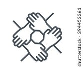 team work icon suitable for... | Shutterstock .eps vector #394453261