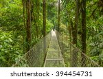 suspended bridge at natural... | Shutterstock . vector #394454731