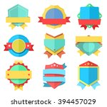 flat style badge icons set.... | Shutterstock .eps vector #394457029