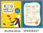 cute colorful kids meal... | Shutterstock .eps vector #394458337