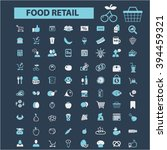 food retail icons   | Shutterstock .eps vector #394459321
