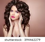 makeup. healthy hairstyle.... | Shutterstock . vector #394462279